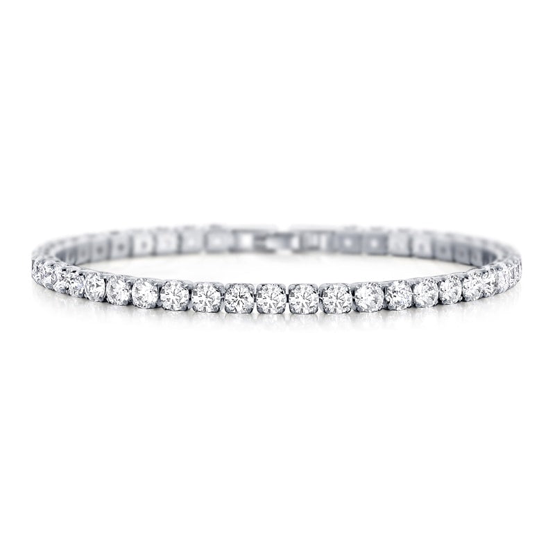 Laurent Diamond Tennis Bracelet in 18k White Gold
