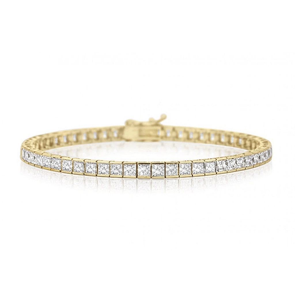 Helzberg Diamond Tennis Bracelet in 18k Gold