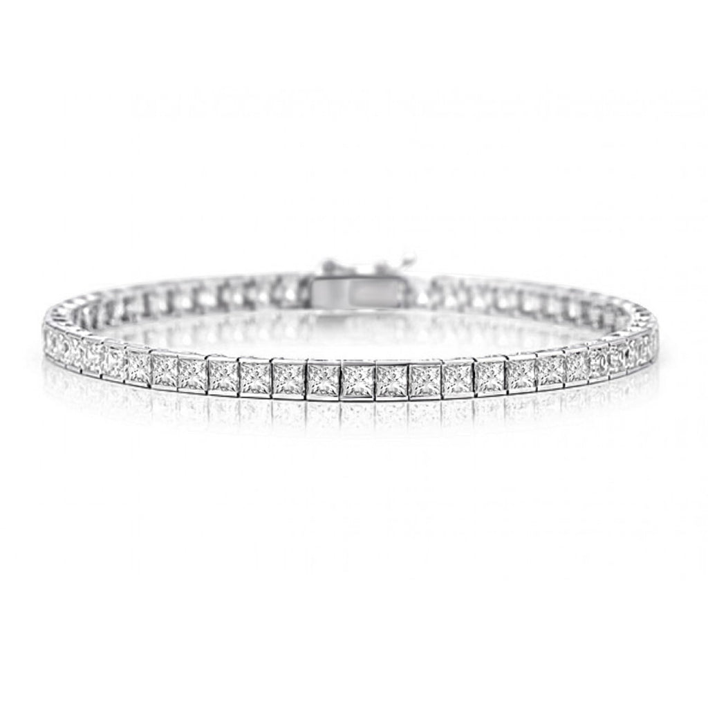 Helzberg Diamond Tennis Bracelet in 18k White Gold