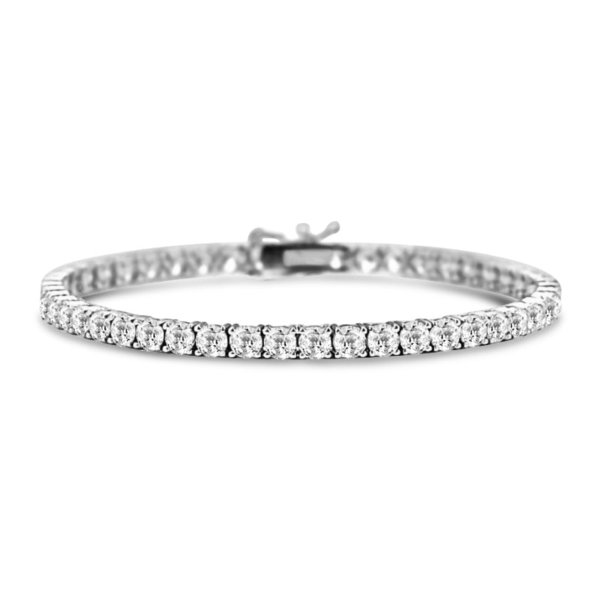 Classic Diamond Tennis Bracelet in 18k White Gold