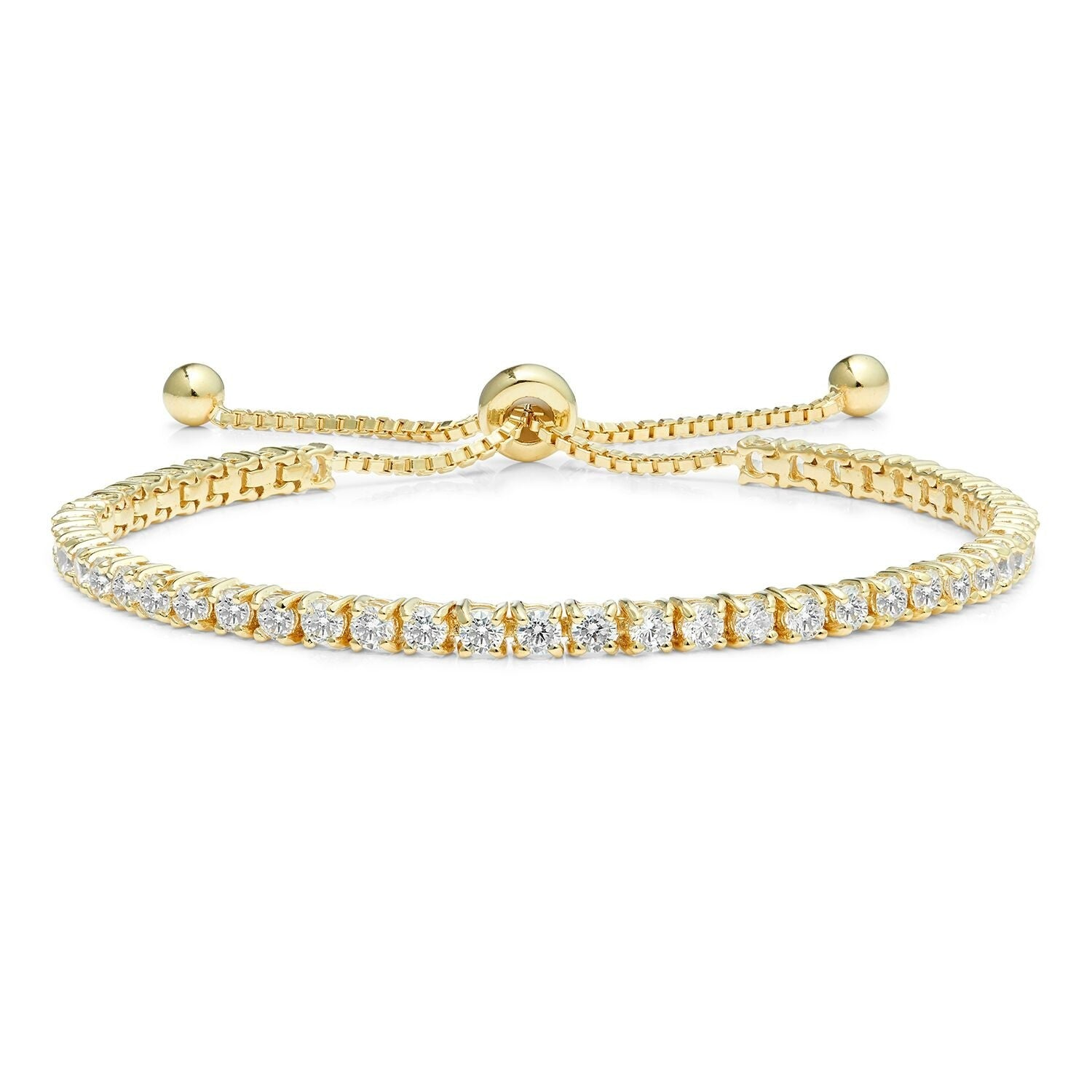 Diamond Classic Adjustable Moietie Tennis Bracelet in 18k Gold (4mm)