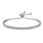 Diamond Classic Adjustable Tennis Bracelet in 18k White Gold (3mm)
