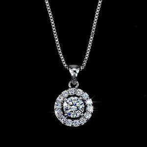 Gala Diamond Tennis Necklace in 18k White Gold