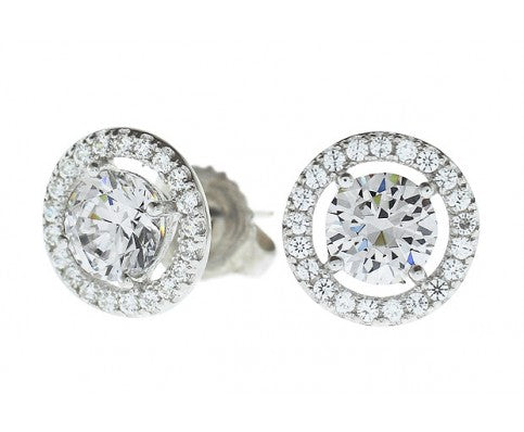 Gala Diamond Earrings in 18k White Gold