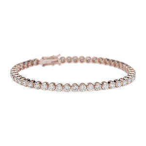 Eleanor Diamond Tennis Bracelet in 18k Rose Gold