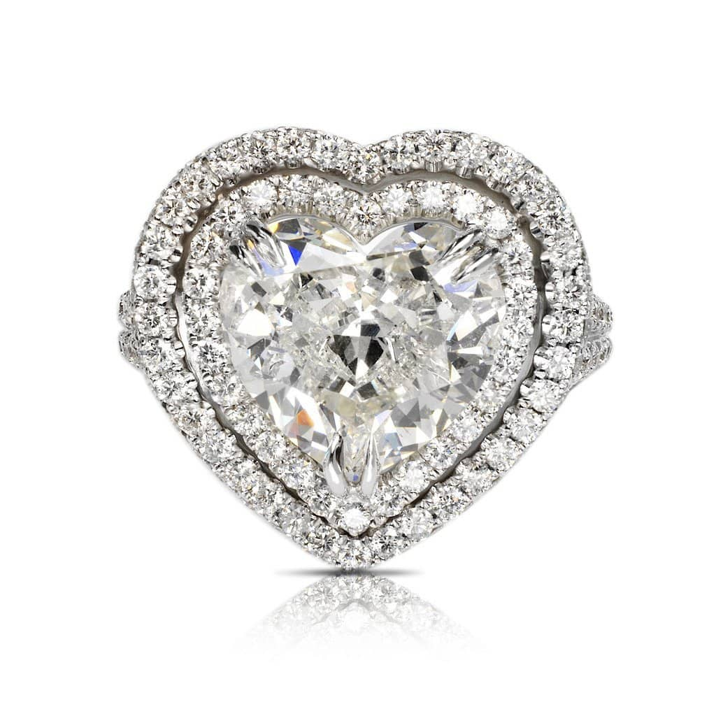 Ayla Heart Diamond Ring in 18k White Gold