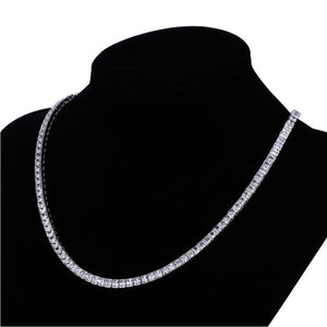 Helzberg Diamond Tennis Necklace in 18k White Gold