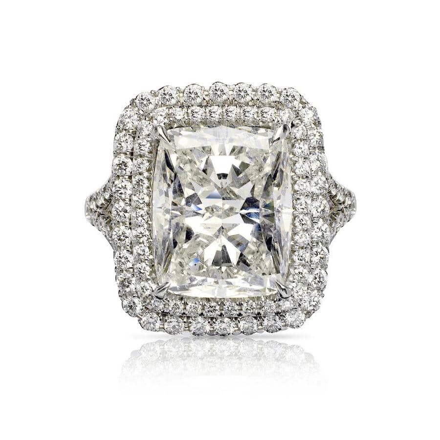 Ayla Radiant Diamond Ring in 18k White Gold