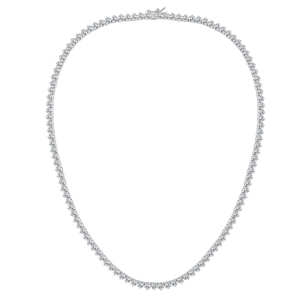 Monique Lhuillier Diamond Tennis Necklace in 18k White Gold
