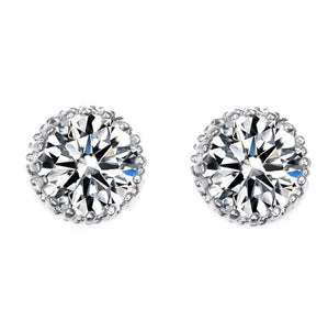 Monique Lhuillier Petal Diamond Earrings in 18k White Gold