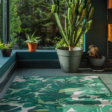 Load image into Gallery viewer, Matrix - Palm Green Rug