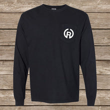 Load image into Gallery viewer, Chippewa Long Sleeve Pocket Tee- Black