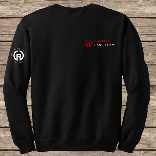 Chippewa Ranch Camp Black Crew Neck Sweatshirt