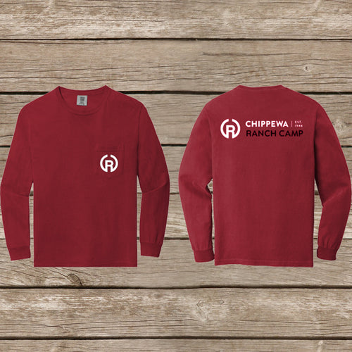 Chippewa Long Sleeve Pocket Tee- Red