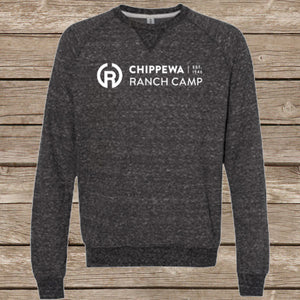 Chippewa Ranch Camp Snow Heather Crewneck Sweatshirt (Multiple Color Options)