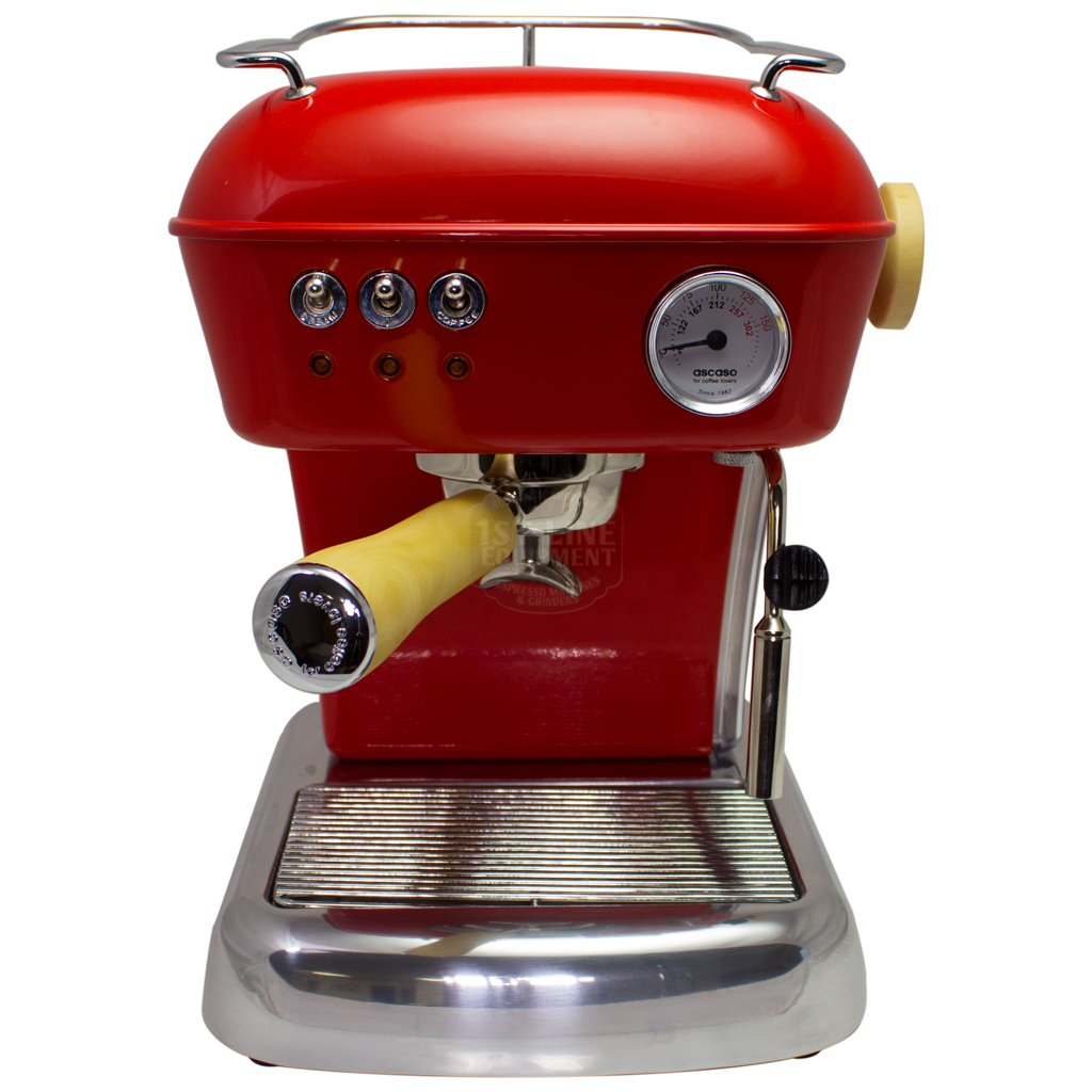 Ascaso Dream Up V3 PID Espresso Machine - Love Red - Wood Handle And Steam Knob-Lowest Prices Online Barista Boss