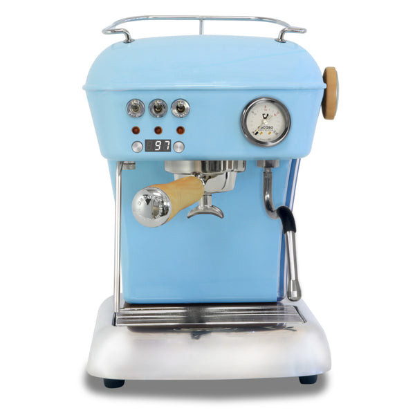 Ascaso Dream Up V3 PID Espresso Machine - Kid Blue- Wood Handle and Steam Knob