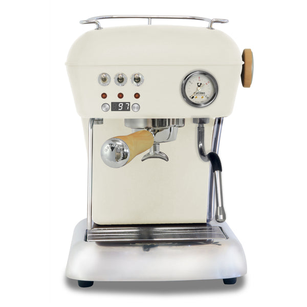 Ascaso Dream Up V3 PID Espresso Machine - Sweet Creme- Wood Handle and Steam Knob