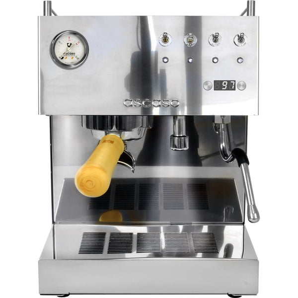 Ascaso Steel DUO Espresso Machine Versatile PID in Black – Wood Portafilter Handle