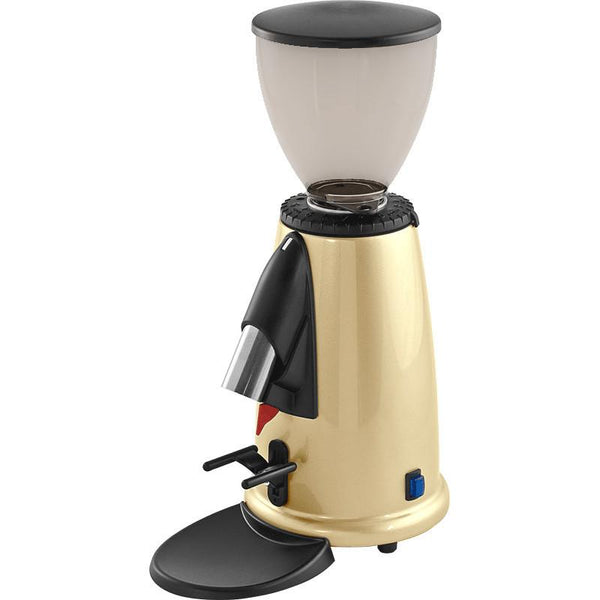 Macap M2M Espresso Coffee Grinder – doserless, brass finish, stepped, manual