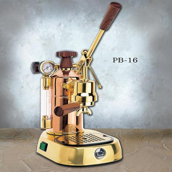 La Pavoni Professional Manual Espresso Machine - Copper & Brass - PB-16-Lowest Prices Online Barista Boss