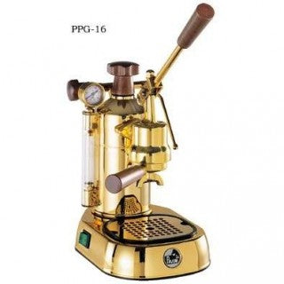 La Pavoni Professional Manual Espresso Machine - Gold Plated Brass - PPG-16-Lowest Prices Online Barista Boss