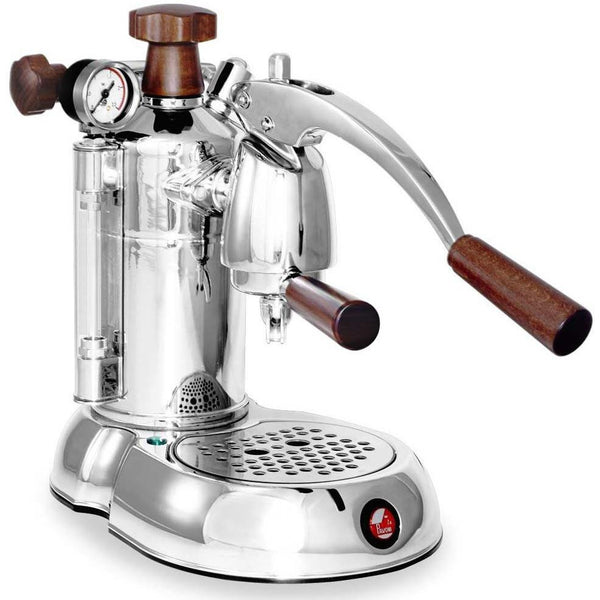 La Pavoni Stradivari Manual Espresso Machine - Wood & Chrome - PSW-16-Lowest Prices Online Barista Boss