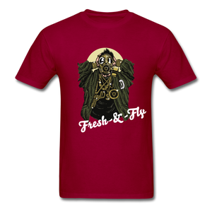 Fresh-&-Fly Tee - dark red