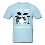 Drummer Tee - powder blue