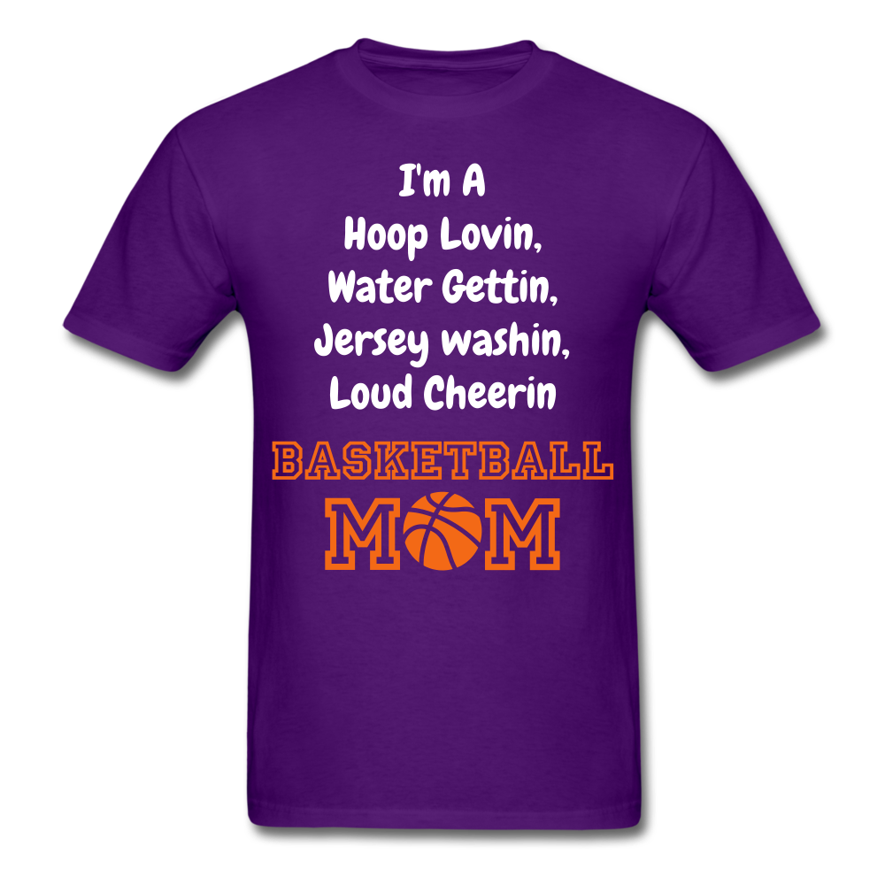 Im a bball mom tee - purple
