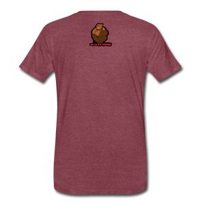 LOOK ILLEGAL TEE - heather burgundy