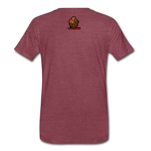 Canaan Harvey Tee - heather burgundy