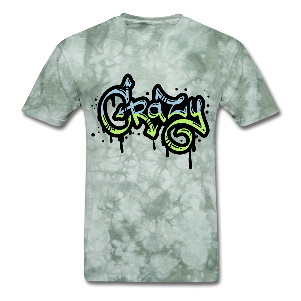 Crazy Tee - military green tie dye