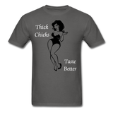 Thick Chicks Tee - charcoal