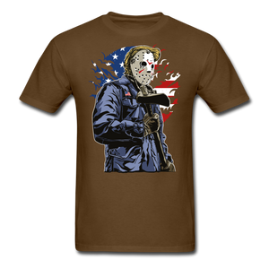 Trump Killer Tee - brown