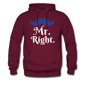 Mr. Right - burgundy