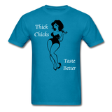 Thick Chicks Tee - turquoise