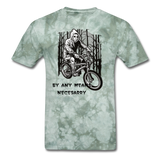 By Any Means Tee - military green tie dye