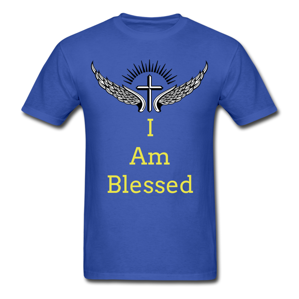 I Am Blessed Tee - royal blue