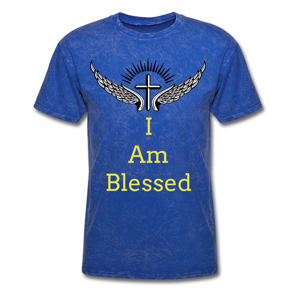 I Am Blessed Tee - mineral royal