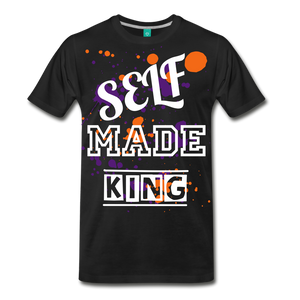 Self Made Tee. - black
