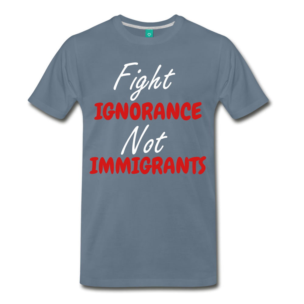 Fight Ignorance tee - steel blue