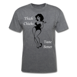 Thick Chicks Tee - mineral charcoal gray