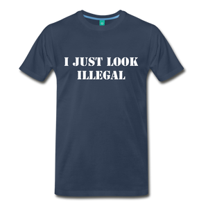 LOOK ILLEGAL TEE - navy