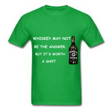 Whiskey Tee - bright green
