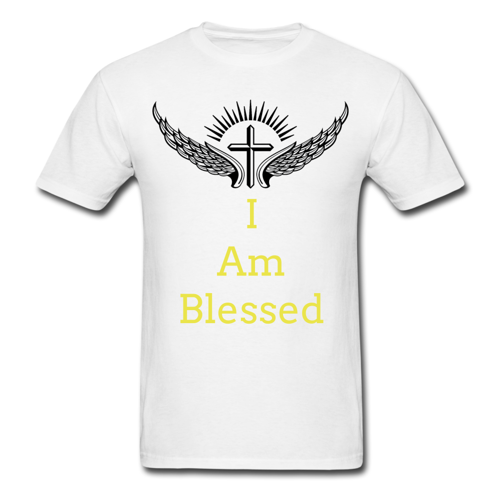 I Am Blessed Tee - white