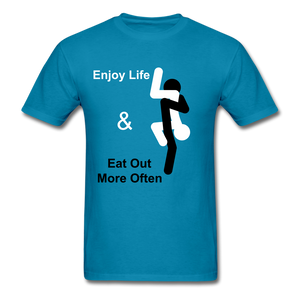 Eat Out Tee - turquoise