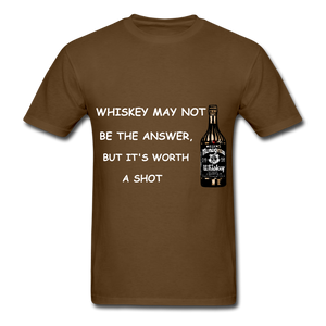 Whiskey Tee - brown