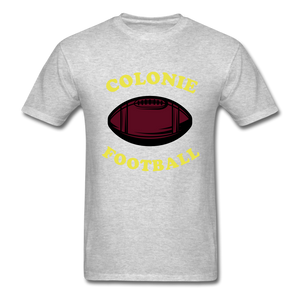 Colonie Football Tee - heather gray