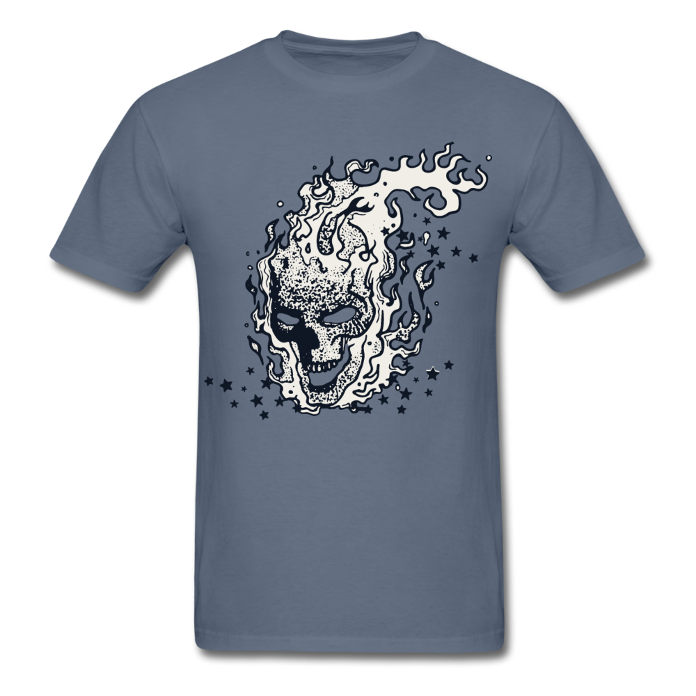 Sparkle Skull Tee - denim